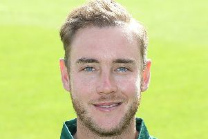 Stuart Broad, who has been praised for his attitude after being left out of the England team. (PHOTO BY: Mark Fear Photography)