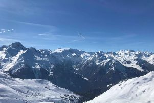 The view from La Plagne