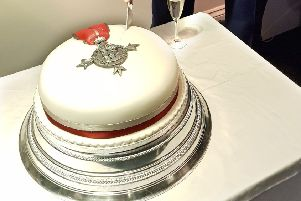 The amazing cake was 'Just Delicious'!