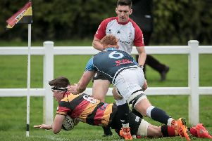 Jonny Coser scored a hat-trick of tries against Ilkley. Picture: Caught Light Photogrpahy