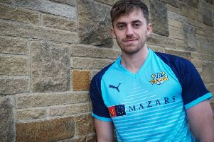Ben Coad in Yorkshire's 2019 Vitality Blast cricket kit