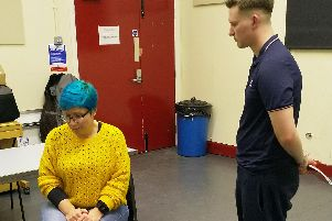 Rehearsals for The Company's production of Death in High Heels, to be performed at the University of Sheffield Drama Studio
