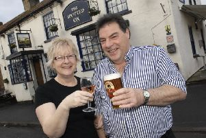 Selling up: Landlord and landlady of The Spotted Ox in Tockwith Ian and Sheila Robinson. Picture : Adrian Murray. (1401272AM1)