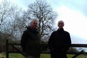 Dark future? Harrogate residents at a field off  Whinney Lane where more housing is scheduled to be built.