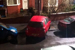 This motorist certainly seemed not to fancy some parallel parking.