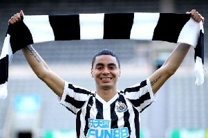 Newcastle United broke their transfer record to sign Miguel Almiron last month.