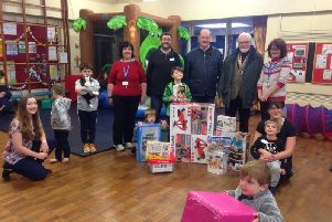 Ripon rotary presents the toys and games to Ohana children's charity.