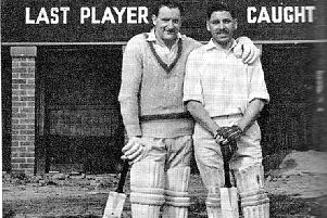 Bill Alley, legendary cricketer, pictured here with Tom Incles