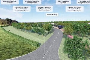 An artist's impression of the Alwoodley Gates park and ride
