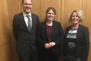 (From left): Home for Good chief executive, Phil Green; Rachael Maskell MP and Chair of the APPG; and Adoption UK chief executive, Dr Sue Armstrong Brown.
