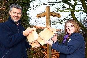 The Pinewood Conservation Group purchased new bat boxes thanks to the Taylor Wimpey donation.