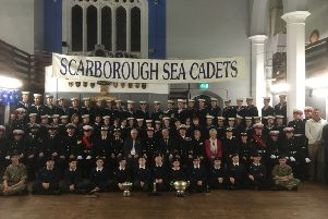 The Scarborough Unit of the Sea Cadets Corps.