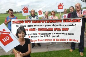 'No' to new housing - Members of Hampsthwaite Action Group.