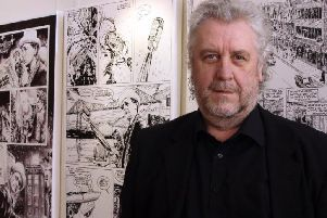 Comic artist Richard Piers Rayner