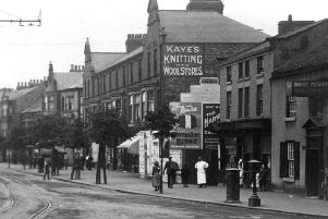 This picture shows a view of part of Falsgrave Road taken from the junction with Seamer Road. The building on the right is the White Horse pub, better known today as the popular Tap n Spile. Tram lines can be seen in the middle of the road on the left of the picture. Filve miles of tram lines were laid down by May 1904, and when electric trams started running they were an instant success carrying 22,000 passengers in the first two days of operation.'Photo reproduced courtesy of the Max Payne collection. 'Reprints can be ordered with proceeds going to local charities. Telephone 0330 1230203 and quote reference number