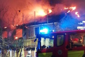 Firefighters at the scene. Picture: Robert Taylor