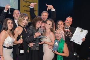 Winners at last year's Harrogate Hospitality and Tourism Awards.