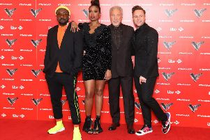 Have you got what it takes to impress the coaches on The Voice? They are (left to right) Will.i.am, Jennifer Hudson, Tom Jones and Olly Murs.
