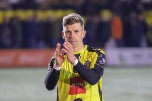Harrogate Town's Lloyd Kerry. Picture: Matt Kirkham