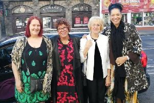 L-R: Swwop Ambassador Jane Copeland, manager Sali Harwood, finance and admin worker Lis Storey and crisis and exit support worker Annette Swaby.