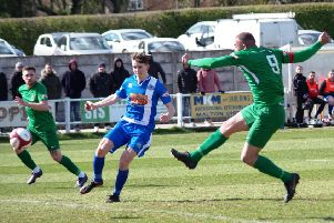 Pickering v Brighouse'Aaron Martin scores Town's first goal