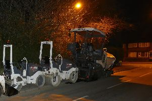 Diggers at Kingsley Drive in Harrogate during recent water pipeline work.
