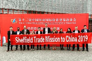 Sheffield trade mission delegates in China.