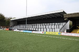 One of the new standing terraces at the CNG Stadium