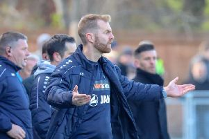 Harrogate Town boss Simon Weaver wasnt the only one left frustrated by what he saw out on the pitch during Saturdays home defeat to Boreham Wood. Picture: Matt Kirkham