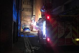 Firefighters at the scene.