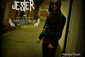 The poster for ex-Harrogate Grammar School sixth former Max Albrecht's new movie Jester.