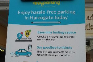 One of Harrogate's popular Appy Parking machines.