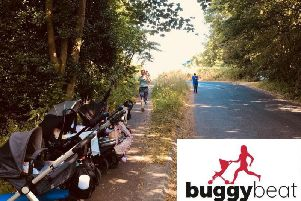 Harrogate's BuggyBeat fitness group.