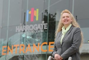 Positive - The new director of Harrogate Convention Centre Paula Lorimer. (Picture by Gerard Binks)