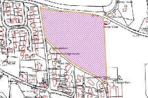 The proposed field for development on the east side of Sharow.