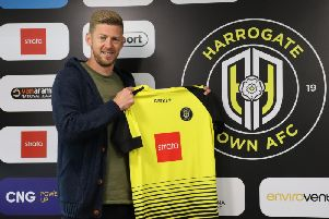 Harrogate Town unveiled their fifth signing of the close season on Monday evening.