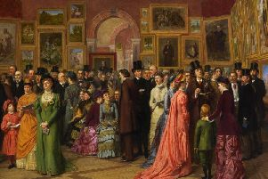 12 million painting on show in Harrogate this weekend - The Private View (at the Royal Academy) by William Powell Frith. (1883)