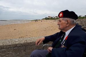 Back at Sword Beach - Harrogate's D-Day hero John Rushton, 95, looks back to D-Day where his comrades fell.