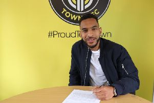 Brendan Kiernan joined Harrogate Town from Welling United last month.