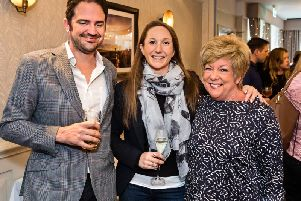 West Park summer menu launch in Harrogate - Guests David and Ginny Nicholls and Kathryn McCormick.