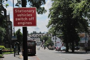 The new signs put up by North Yorkshire Council warning drivers to switch off their car engines in Starbeck.