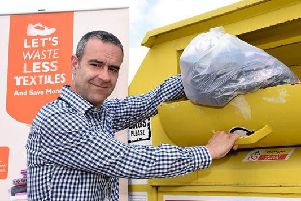 Waste and recycling officer Chris Black is urging residents to recycling their clothes and shoes at clothing recycling banks or charity shops.