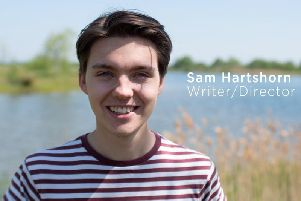 Award-winning young Harrogate independent filmaker Sam Hartshorn.
