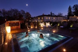 Luxury - The roof top spa at Rudding Park hotel in Harrogate.