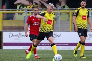 George Smith in action for Harrogate Town. Picture: Matt Kirkham