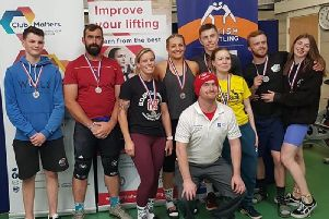 Medal winners: Pontefract Body Design Weightlifting Club members with their medals won at the North Series Championship.