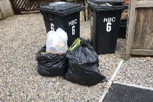 Uncollected rubbish in central Harrogate earlier this week.