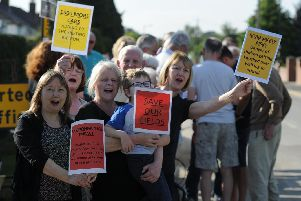 Residents fed up with the six months of non-stop road closures and mess because of housing developments in the Kingsley Road area of Harrogate who now, potentially, face three more developments. (Picture by Gerard Binks)