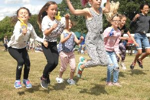 Flashback - Children taking part in one of the races in Birstwith Show.