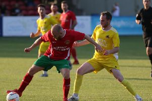 Harrogate Railway, red kit, and Knaresborough Town kick-off their respective NCEL campaigns on Saturday. Picture: Craig Dinsdale